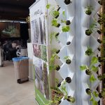 Urban kolom vertical farming